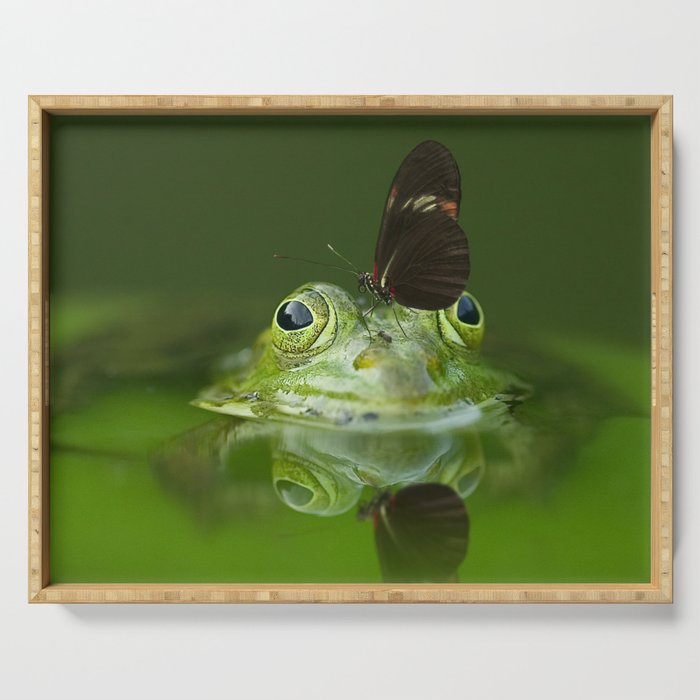 Friends - Butterfly on a Frog Serving Tray