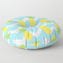 Blue Pineapple Pattern Floor Pillow