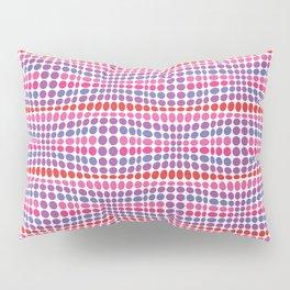 Dottywave - Red Pink Purple wave dots pattern Pillow Sham