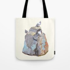 The Pigeon on a Rock Tote Bag
