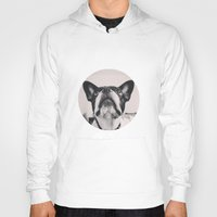 french bulldog Hoodies featuring French Bulldog by lori