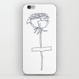 Pasted Rose iPhone Skin