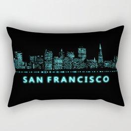 Digital Cityscape: San Francisco, California Rectangular Pillow