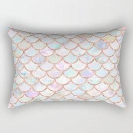 Pastel Memaid Scales Pattern Rectangular Pillow