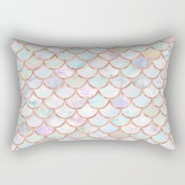 Pastel Memaid Scales Pattern Rectangular Pillow