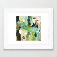 "flora bowley Framed Art Prints featuring ""Fly Home"" Original Painting by Flora Bowley by Flora Bowley"