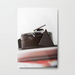 chocolate mouse cake Metal Print