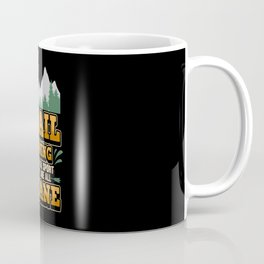 Running Trail Run Mountains Forest Fitness Coffee Mug