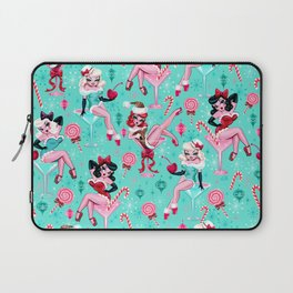 Christmas Candy Martini Pinup Girls Laptop Sleeve