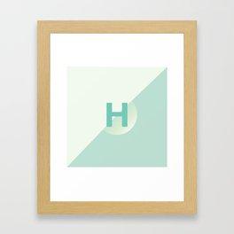 Honeydew - H Framed Art Print