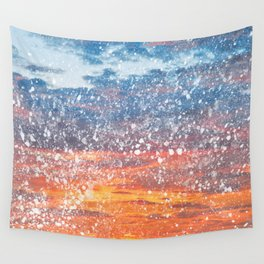 Acrylic Sunset Spatters Wall Tapestry