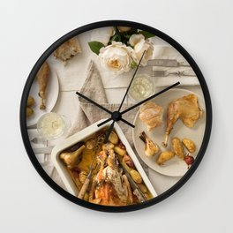 Vintage festive table for two Wall Clock