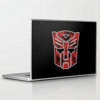 transformers Laptop & iPad Skins featuring Autobots in flames - Transformers by YiannisTees