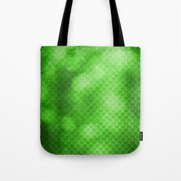 Green Flash small scallops pattern with texture Tote Bag
