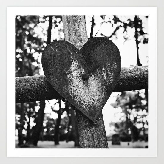 Graveyard love Art Print