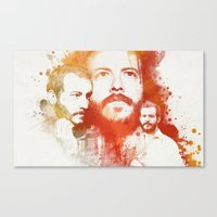 bon iver Canvas Prints featuring Blindsided by Your Music Design