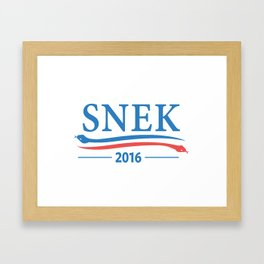 Snek for President 2016 Framed Art Print