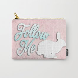 Follow the White Rabbit Carry-All Pouch