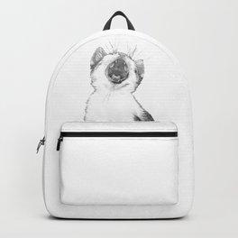 Black and White Sleepy Kitten Backpack