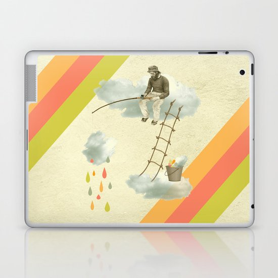 The fisherman who was cleaning the sky from the clouds Laptop & iPad Skin