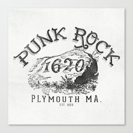 Punk Rock Plymouth Ma. Canvas Print