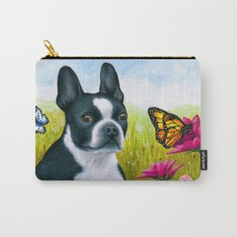 Boston Terrier Dog Carry-All Pouch