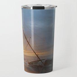 """Sail Boat """"STRANDED SUNRISE""""  Travel Mug"""