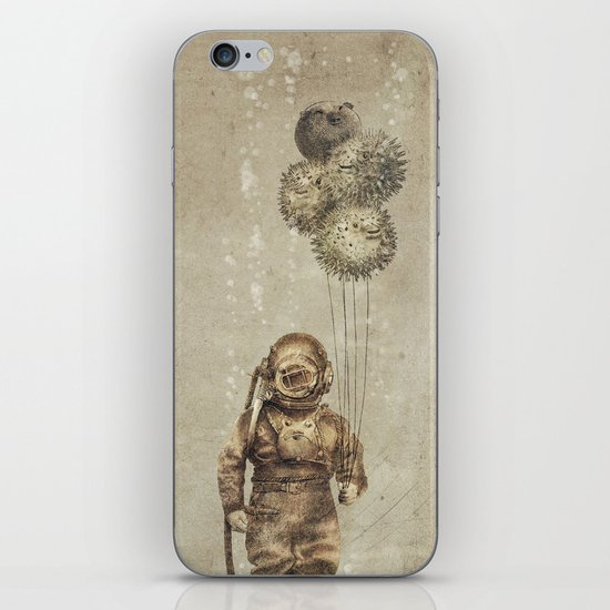 Balloon Fish (Sepia) iPhone & iPod Skin