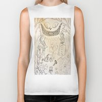 alice in wonderland Biker Tanks featuring Wonderland  by Jgarciat
