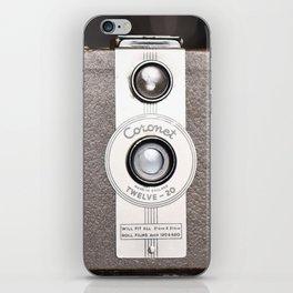 1950 Vintage Coronet twelve-20 twin lens box camera iPhone Skin
