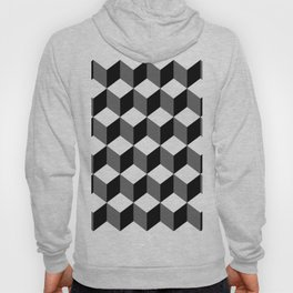 B&W 3d abstraction Hoody