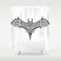 bat Shower Curtains featuring Bat by Tanvi Kulkarni - Arttadka