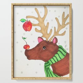 Wishing Rudolf  Serving Tray