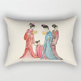 Ancient Chinese ladies painting Rectangular Pillow