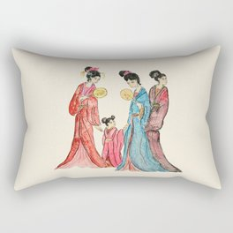 Ancient Chinese ladies painting Rectangular Pillow
