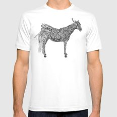 Feather Horse  Mens Fitted Tee White SMALL