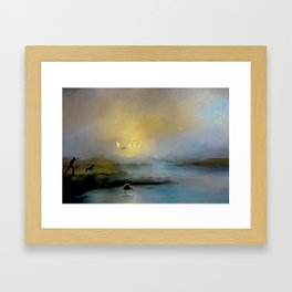 Just Before The First Shot Framed Art Print