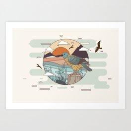 Buzzard Art Print