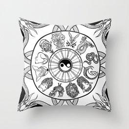 chinese zodiac Throw Pillow
