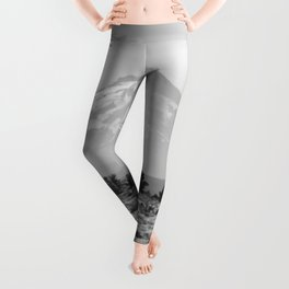 Desert Mountain Black and White Leggings