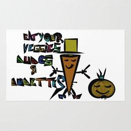Eat your Veggies - Mr. Onion & Mr. Carrot Rug