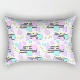 Pastel Retro 80s/90s Geometric Pattern Rectangular Pillow