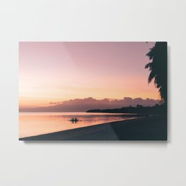Purple Beach Sunset Metal Print