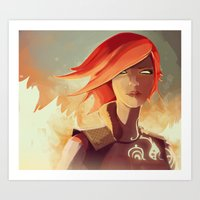 borderlands Art Prints featuring Borderlands - Lilith by BEN Olive
