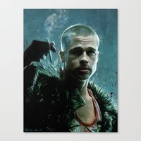tyler durden Canvas Prints featuring Tyler Durden (mission: accomplished) by lensebender