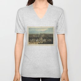 Vintage Pictorial Map of Washington D.C. (1871) Unisex V-Neck