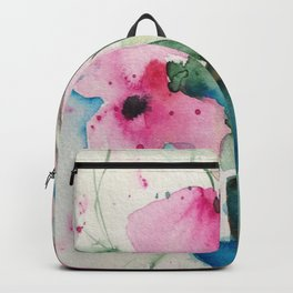 4 pink flowers Backpack