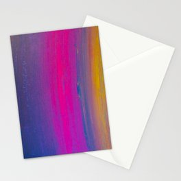 Magical Neon Streaks of Light Stationery Cards