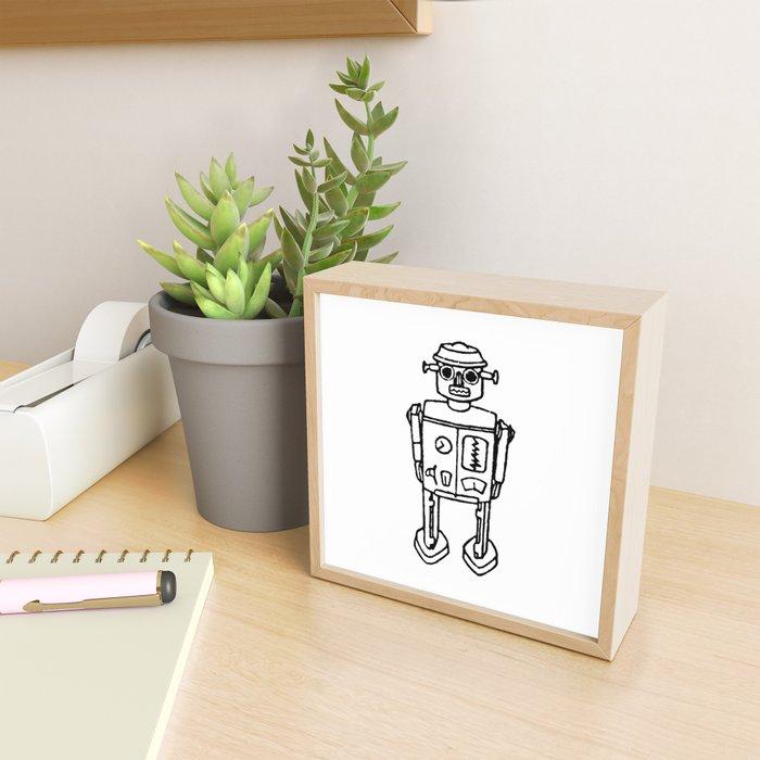 just a robot Framed Mini Art Print