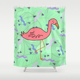 The Big Flamigle Shower Curtain